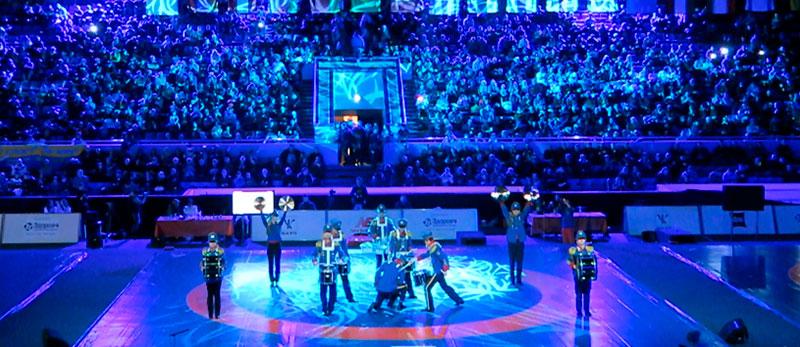 Міжнародний турнір з вільної боротьби в київському Палаці спорту.