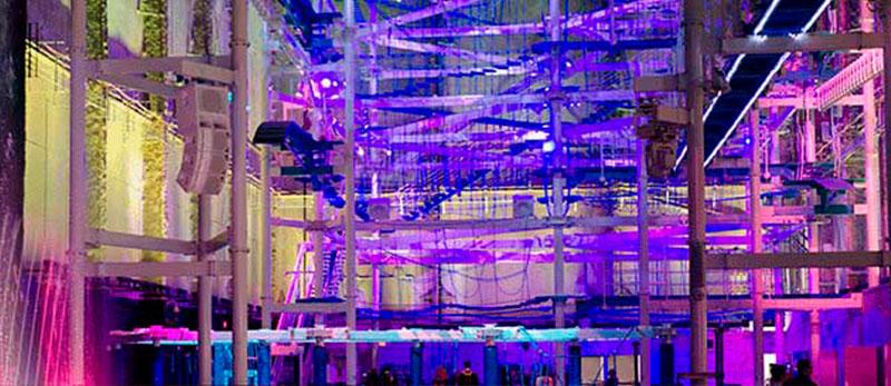 Спеціальні прилади встановили для найбільшого мотузкового парку розваг у закритому приміщенні