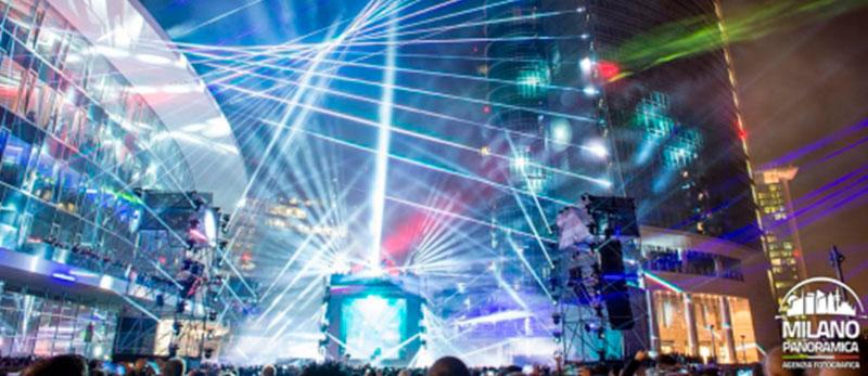 Найбільше в світі лазерне шоу в Мілані