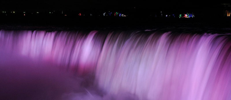 History of lighting the Niagara Falls