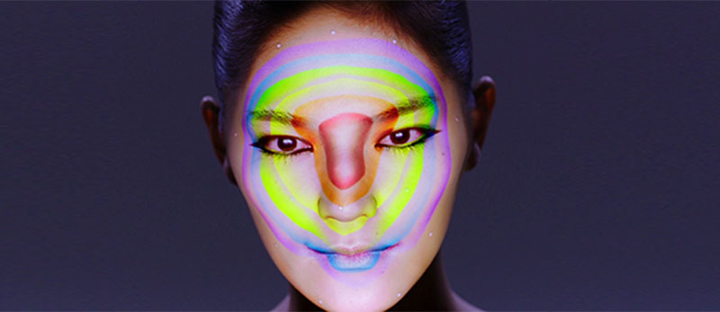 """""""Connected Colors""""- відстеження обличчя в реальному часі і відображення проекції"""