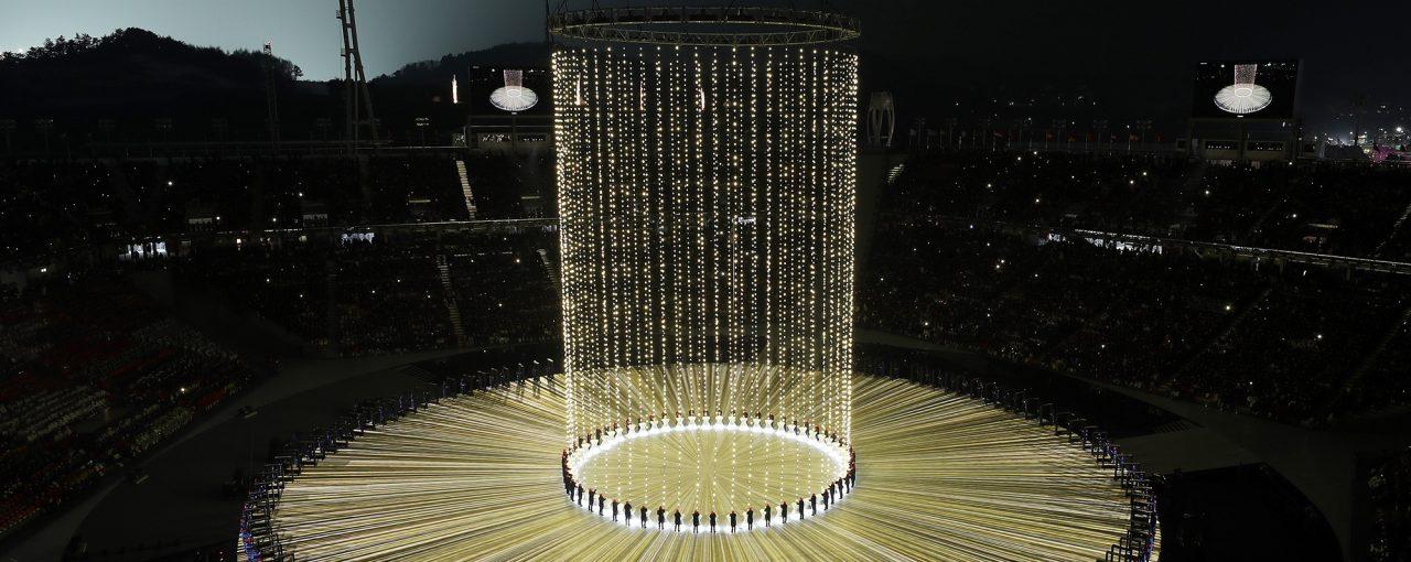 3D-mapping на открытии Олимпийских игр в Пьончанзи